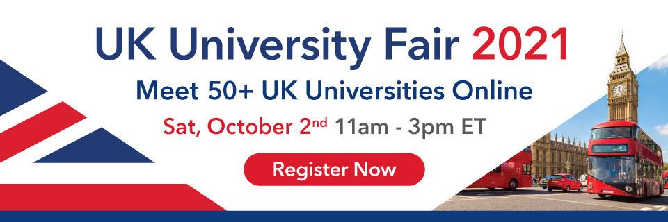 UK University Fair Oct 2021